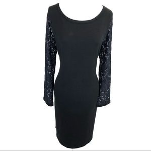 Jessica Howard sweater dress w/ lace sleeves - L